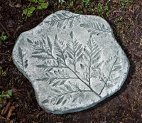 Campania Fossil Fern Stepper, Cast Stone Stepping Stone