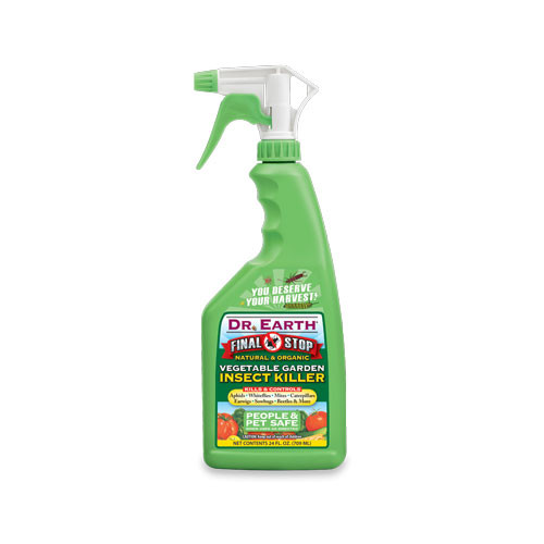 Dr earth final stop vegetable garden insect killer spray Vegetable garden weed control