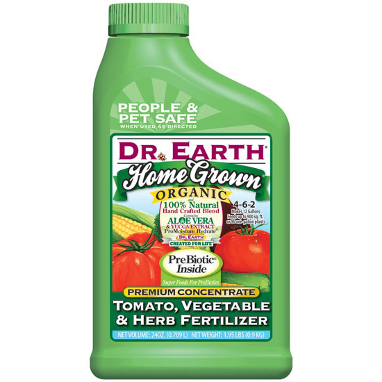 Dr earth home grown tomato vegetable herb fertilizer for Vegetable garden fertilizer