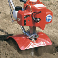 The Mantis tiller/cultivator is lightweight and incredibly effective in prepping your garden for the next planting.