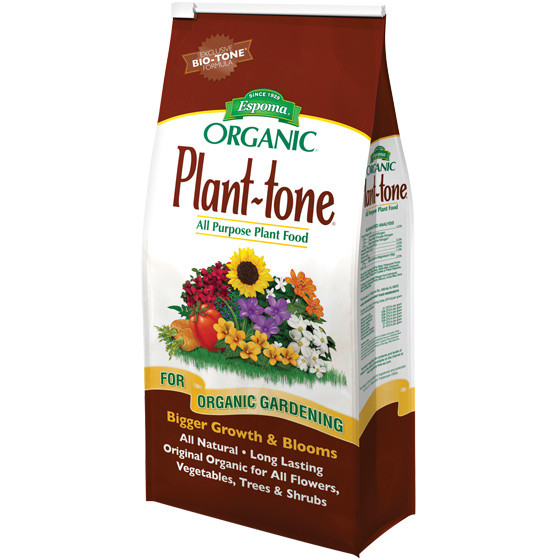 Espoma plant tone organic all purpose fertilzer for Organic soil brands