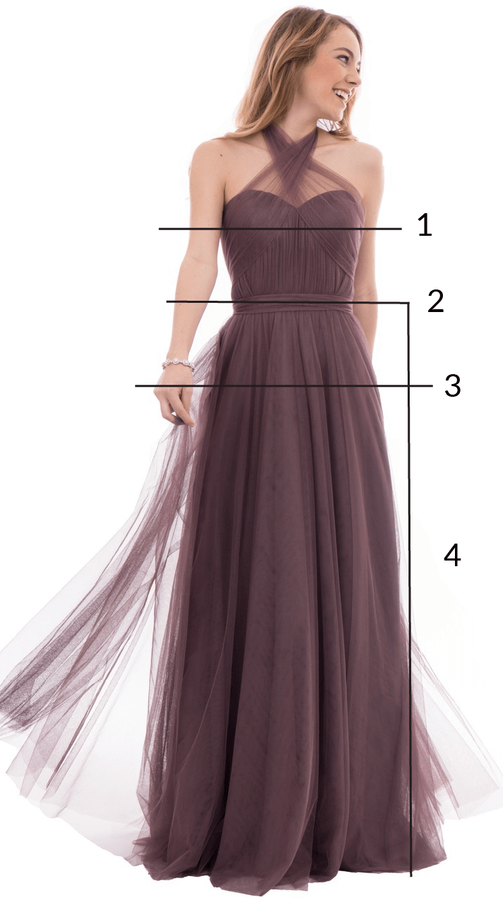 Bridesmaid Dresses How To Measure