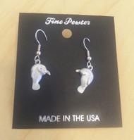Manatee Fine Pewter Earrings