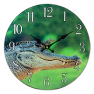 Alligator Glass Clock