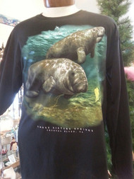 "Manatee ""Springs"" Front Print  L/S T-Shirt"