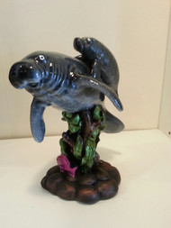 Manatee Mom and Baby Figurine