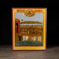 40 Martyrs of Sebaste (XIXc) Icon - S367