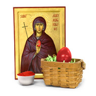 Mary Magdalene Icon and Egg Dye Set