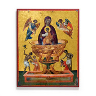 "Theotokos ""Life-Giving Spring"" (Crete) 6x7½ Icon"