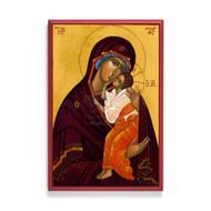 """Theotokos """"Sweet Kissing"""" Icon - T180"""