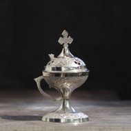 Deluxe Nickel-Plated Incense Burner