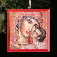 Heart of the Theotokos Tree Ornament - T100