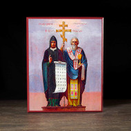 Saints Cyril and Methodius Icon - S128