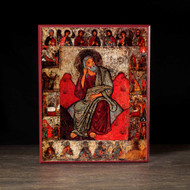 Prophet Elijah With Scenes (XIIIc) Icon - S144