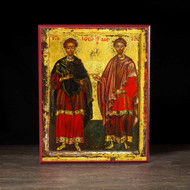 Saints Cosmas and Damian (XVIIc) Icon - S198