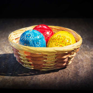 Basket of Painted Eggs