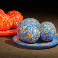 Plate of Painted Eggs