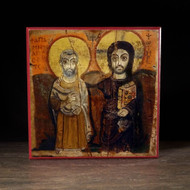 Christ and Saint Menas Icon - F214