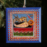 Christ in the Manger Tree Ornament - F219