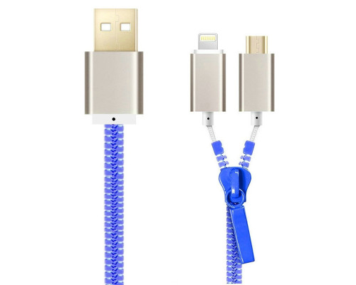 Tangle-Free Sync and Charge Zipper Cable for Android and iPhones