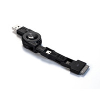Black 3-in-1 Retractable USB Cable