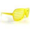 Bright Yellow All Plastic Grill Lens Sunglasses