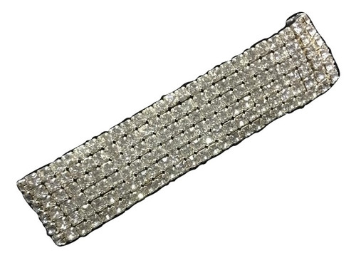 6 Row Ladies Ice Star Bracelet-Silver