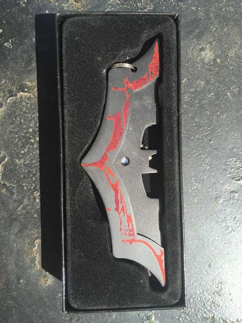 Black BAT Knife Wearable! w/FREE Chain