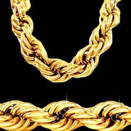 "25MM X 30"" GOLD ROPE CHAIN"