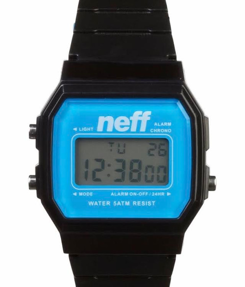 NEFF FLAVA WATCH- black/cyan