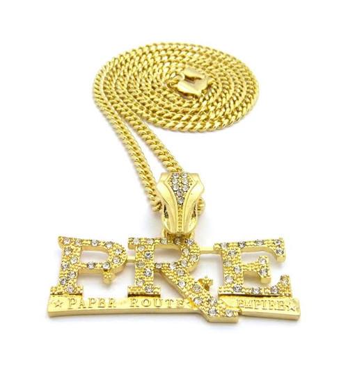 """Young Dolf Pre Pre 14K Gold Rapper Pendant w/FREE 36"""" Chain"""