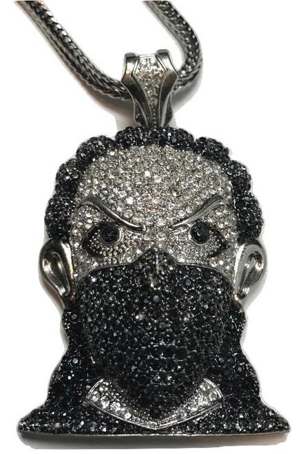 """Black Supreme Bandana Goon Pendant-Plies w/FREE 36"""" Chain"""