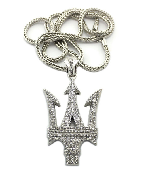 """Iced Out Hip Hop Auto Pendant (Mas) w/36"""" Chain 