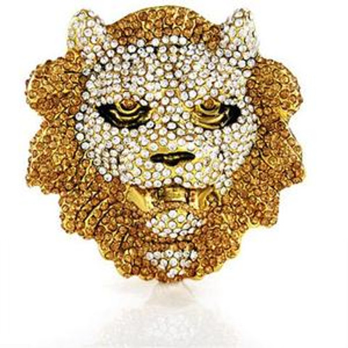 LionFace Gold belt buckle