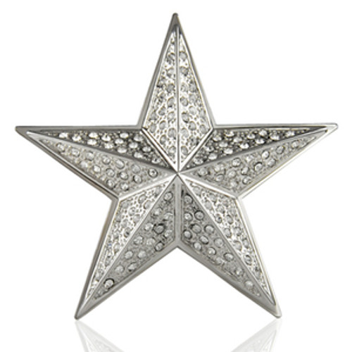 *Star 3D Iced out belt buckle