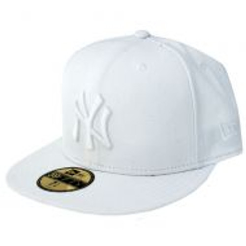 NY Yankees White NEW ERA CAP 7 5/8