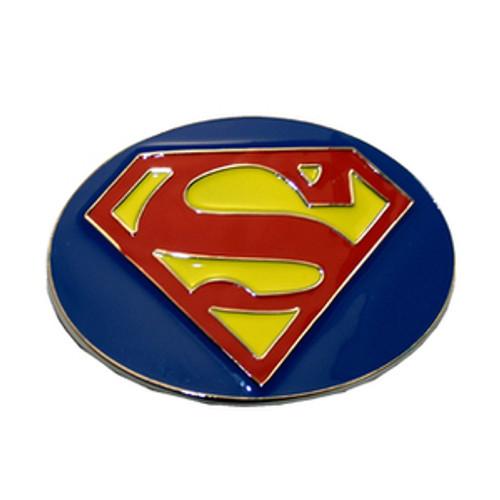 Superman belt buckle-Blue/Round