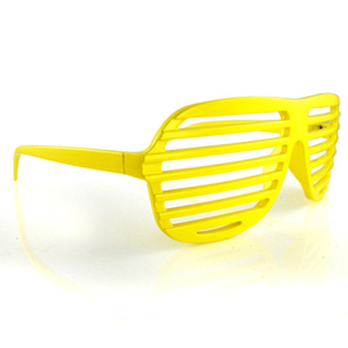 Bright Yellow All Plastic Grill Lens Sunglasses