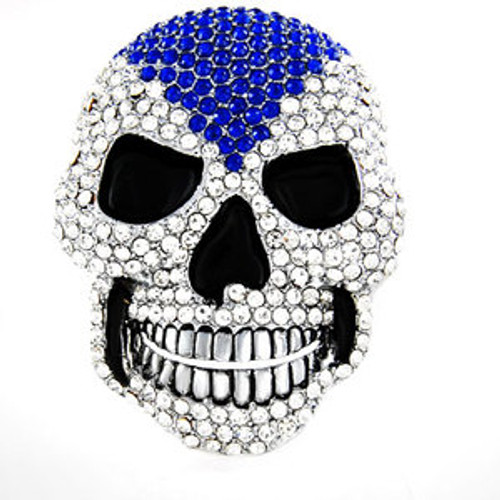 Jim Jones original clear skull belt buckle (BLU)