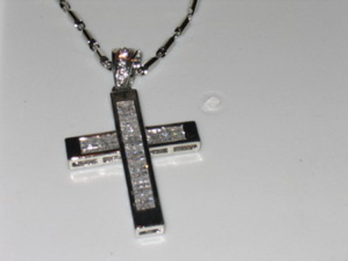 FLO RIDA Silver Iced Out Cross Pendant 2010..new*