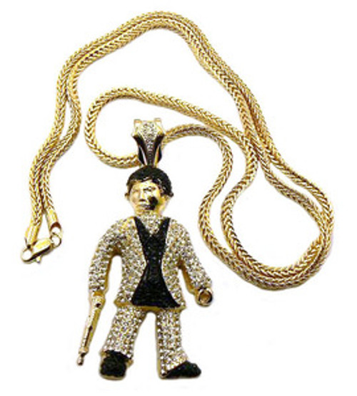 """""""Scarface pendant GOLD w FREE 36"""" chain"""
