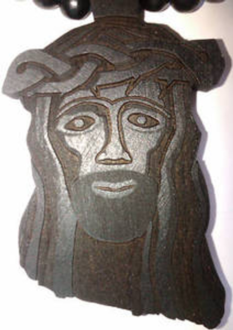 """Good Wood Wooden Jesus piece BLACK"