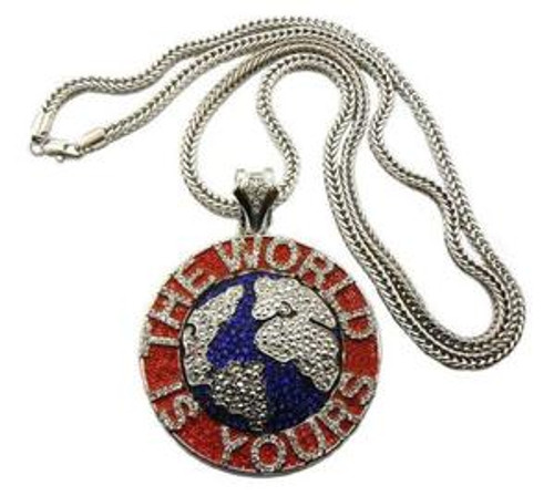 """SOULJA BOY'S WORLD IS YOURS PENDANT & FRANCO CHAIN"