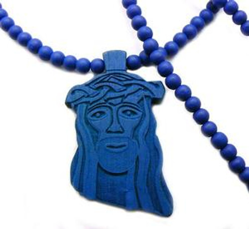 """Good Wood Wooden Jesus Piece BLUE"