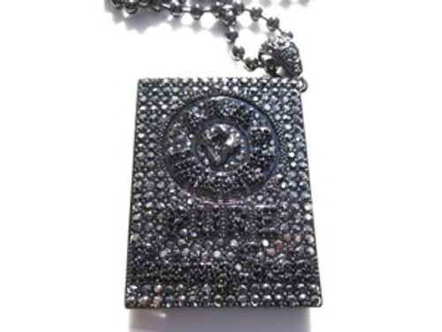 """BIG Gucci Mane Black Iced Out 1017 Baking Soda Pendant Combo"