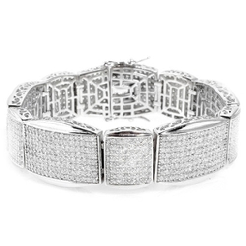 """925 Sterling Silver Micro Pave Bracelet - KING OF KINGS"