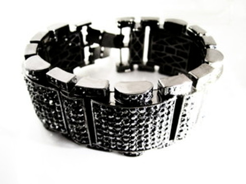 """King Hematite Bracelet in Black"