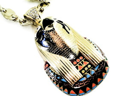 """""""Kayne West-Big Power GOLD Pendant w/Thick Gold Chain"""