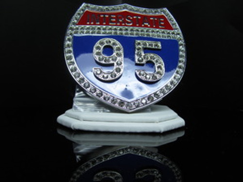 "1-""Interstate i95 Iced Out Hip Hop Belt Buckle"