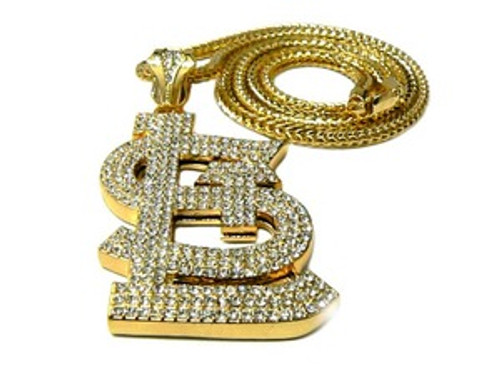 """Fully Iced Out St.Louis-GOLD Hip Hop Pendant w/FREE 36"" GOLD Chain"